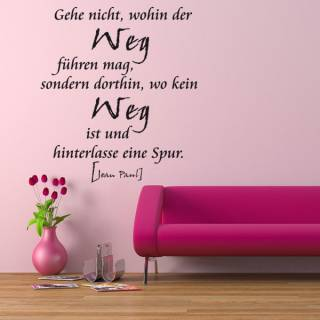 Wandtattoo Aufkleber Zitat Jean Paul Gehe und hinterlasse Spuren