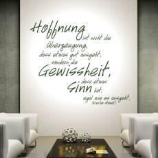 Wandtattoo Zitat Vaclav Havel Hoffnung ist...