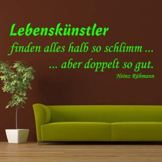 Wandtattoo Zitat Heinz Rühmann Lebenskünstler