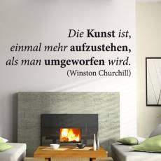 Wandtattoo Zitat Winston Churchill Die Kunst ist Aufstehen