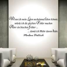 Wandtattoo Zitat Marlene Dietrich Leben