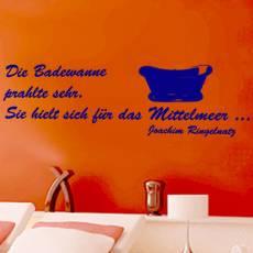Wandtattoo Zitat Ringelnatz Badewanne Mittelmeer