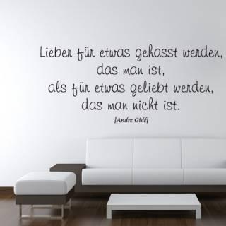 Wandtattoo Zitat Andre Gide gehasst geliebt
