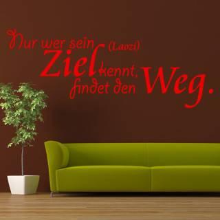 Wandtattoo Zitat Laozi Wer sein Ziel kenn findet den Weg LaoTse