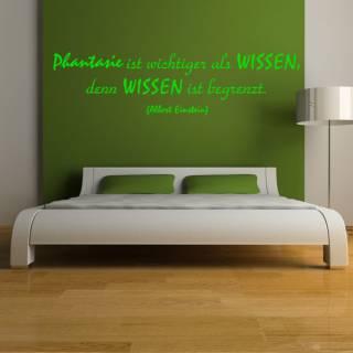 Wandtattoo Zitat Albert Einstein Phantasie ist wichtiger als Wissen