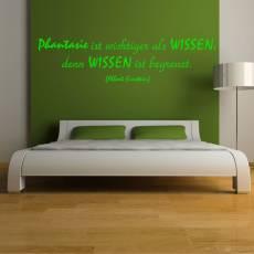 Wandtattoo Zitat Albert Einstein Phantasie ist wichtiger...