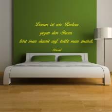 Wandtattoo Zitat Laozi LaoTse Lernen ist wie Rudern gegen den Strom