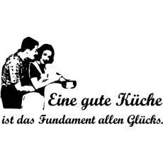 Wandtattoo Zitat Eine gute Küche ist das Fundament...
