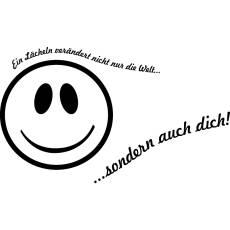 Wandtattoo Zitat Ein Lächeln verändert die Welt und dich