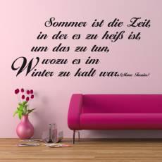 Wandtattoo Zitat Marc Twain Sommer