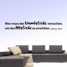 Wandtattoo Zitat Hesse Man muss das Unmögliche versuchen
