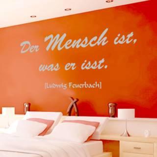 Wandtattoo Zitat Ludwig Feuerbach Der Mensch ist was er isst