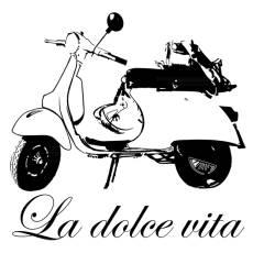 Wandtattoo La dolce vita Vespa