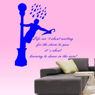 Wandtattoo Life is dancing in the rain
