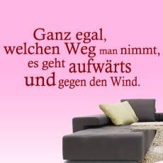 Wandtattoo Zitat aufwärts gegen den Wind