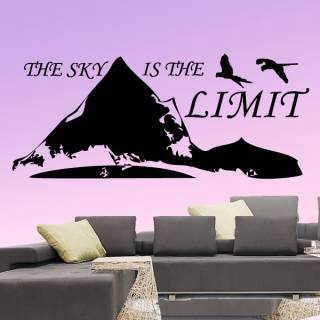Wandtattoo The sky is the limit