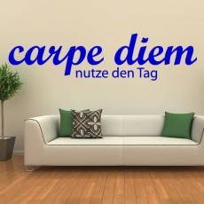 Wandtattoo Zitat Carpe diem - Nutze den Tag