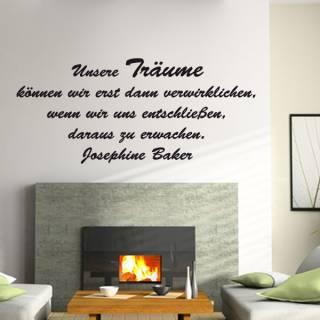 Wandtattoo Zitat Josephine Baker aus Träumen erwachen