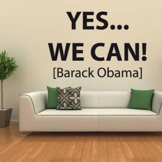 Wandtattoo Zitat Obama Yes We Can