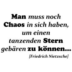 Wandtattoo Zitat Nietzsche Chaos gebiert Sterne