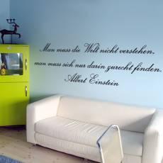 Wandtattoo Zitat Albert Einstein die Welt verstehen