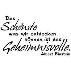 Wandtattoo Zitat Einstein Das Schönste ist Geheimnisvoll