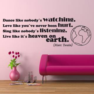Wandtattoo Zitat Twain live like its heaven on earth
