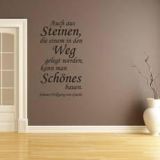 Wandtattoo Zitat Goethe aus Steinen im Weg etwas Schönes bauen Nr.3
