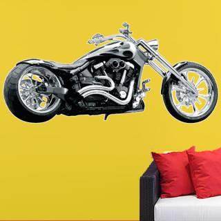 Wandtattoo Wandaufkleber Wallprint Custom Chopper Yamaha Chrom