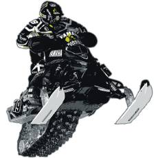 Wandtattoo Wandaufkleber Wallprint Yamaha Skidoo