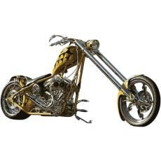 Wandtattoo Wandaufkleber Wallprint Yellow Custom Chopper